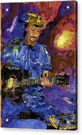 Guitar Man Acrylic Print by Shirley Stalter