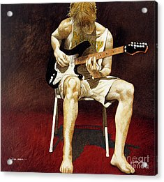 Guitar Man... Acrylic Print by Will Bullas