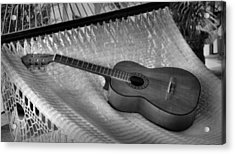 Guitar Monochrome Acrylic Print by Jim Walls PhotoArtist