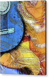 Acrylic Print featuring the painting Guitar Music by Allison Ashton