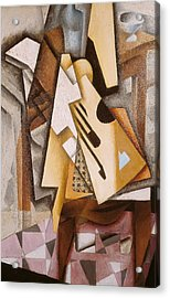 Guitar On A Chair Acrylic Print by Juan Gris