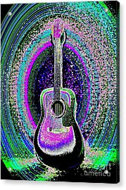 Guitar On The Stage Acrylic Print by Jasna Gopic