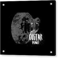 Acrylic Print featuring the photograph Guitar Planet  by Guitar Wacky