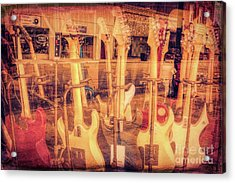 Guitar Reflections Acrylic Print