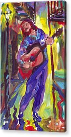 Guitar Solo Acrylic Print by Saundra Bolen Samuel