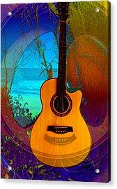 Guitar Tree Acrylic Print by Shadowlea Is