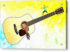Guitar Workout Acrylic Print by Anthony Caruso