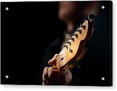Guitarist Close-up Acrylic Print by Johan Swanepoel