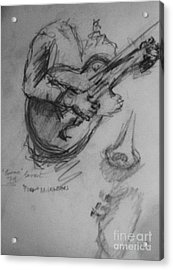 Guitarist Acrylic Print by Jamey Balester