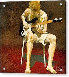 Guitarman... Acrylic Print by Will Bullas