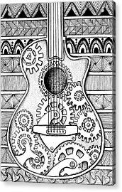 Guitarra No 2 Acrylic Print by Delein Padilla