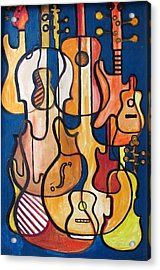 Guitars And Fiddles Acrylic Print by Douglas Pike