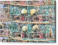 Acrylic Print featuring the digital art Gulf Coast Crab Traps by JC Findley