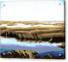 Acrylic Print featuring the painting Gulf Coast Florida Marshes I by G Linsenmayer