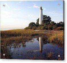 Gulf Coast Lighthouse2  Acrylic Print by Marty Koch
