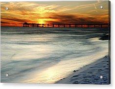Gulf Coast Pier Acrylic Print by Eric Foltz