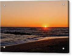 Gulf Coast Sunset  - Maxbar125 Acrylic Print by Frank J Benz