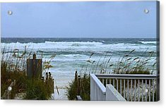 Gulf Coast Waves Acrylic Print by Debra Forand