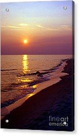 Gulf Of Mexico Sunset Acrylic Print by Thomas R Fletcher