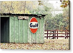 Gulf Oil Shed Acrylic Print