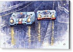 Gulf-porsche 917 K Spa Francorchamps 1970 Acrylic Print