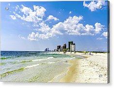 Gulf Shores Al Beach Seascape 1746a Acrylic Print