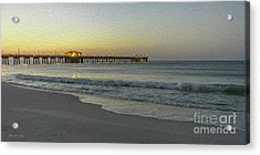 Gulf Shores Alabama Fishing Pier Digital Painting A82518 Acrylic Print