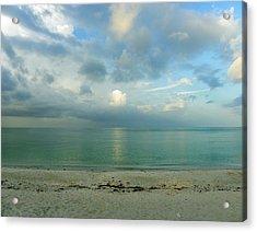 Gulf Storm Acrylic Print by Judy Wanamaker