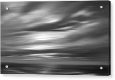 Gulf Sunset In Black And White Acrylic Print by Leonard Frederick