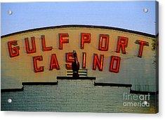 Gulfport Casino Acrylic Print by David Lee Thompson