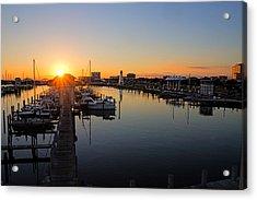 Gulfport Harbor Sunset Acrylic Print