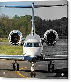 Gulfstream Aerospace G500 I-delo Frontal.nef Acrylic Print by Roberto Chiartano