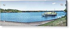 Gull Lake Panorama Acrylic Print