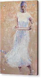 Acrylic Print featuring the painting Gullah Princess by Gertrude Palmer