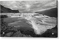 Acrylic Print featuring the photograph Gullfoss Waterfall No. 1 by Joe Bonita