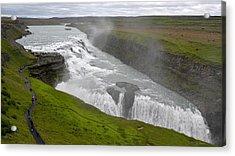 Acrylic Print featuring the photograph Gullfoss Waterfall No. 2 by Joe Bonita