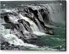 Acrylic Print featuring the photograph Gullfoss Waterfalls, Iceland by Dubi Roman