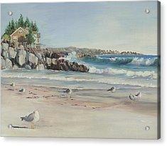 Gulls At Rest Acrylic Print