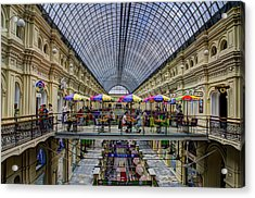Gum Department Store Interior - Red Square - Moscow Acrylic Print