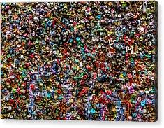 Gum Wall Acrylic Print by Garry Gay