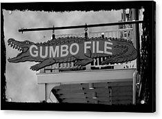 Gumbo File Acrylic Print by Linda Kish