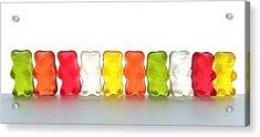 Gummy Bears In A Row Acrylic Print