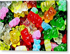 Gummy Bears Acrylic Print by Vivian Krug Cotton