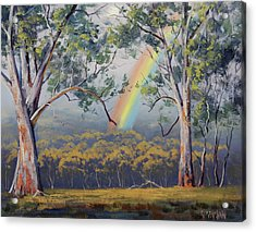 Gums With Rainbow Acrylic Print