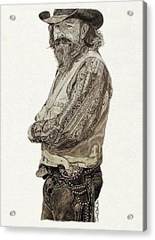 Gun Belt Acrylic Print by Theresa Higby