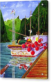 Gunboat Slough Bouys Acrylic Print by Buster Dight
