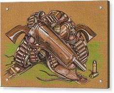 Gunfighter S Legacy Acrylic Print by Ricardo Reis