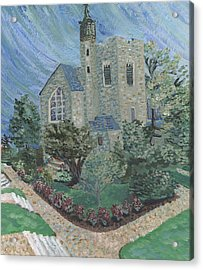 Acrylic Print featuring the painting Gunnison Chapel In The Last Days Of Summer by Denny Morreale