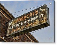 Guns And Locks Acrylic Print by Stephen Stookey