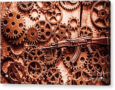 Guns Of Machine Mechanics Acrylic Print by Jorgo Photography - Wall Art Gallery
